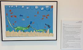 Godfrey Lee Elementary fifth-grader Jayden Miller's Crocakeard, an animal