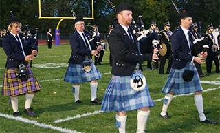 Caledonia High School student Adam McVay performs with Dan Smith, Kyle Wellfare and Kurt Hoffman