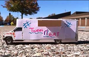 A model used in the Tweet N' Eat advertisement (courtesy photo)