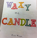 """""""Waxy the Candle"""" is one of several books students created that will be displayed in the Brookwood Elementary library"""