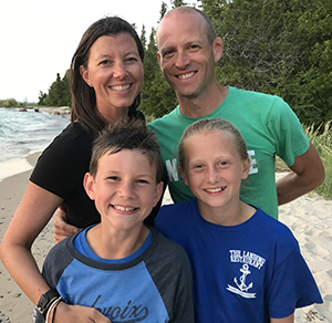 Kevin Vance and wife, Teresa, daughter Meredith and son Charlie last summer at Lake Michigan