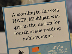 According to the 2015 NAEP, Michigan was 41st in the nation for fourth grade readin achievement