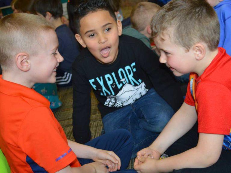 Teachers learn alongside students in 'read-aloud' classroom tour