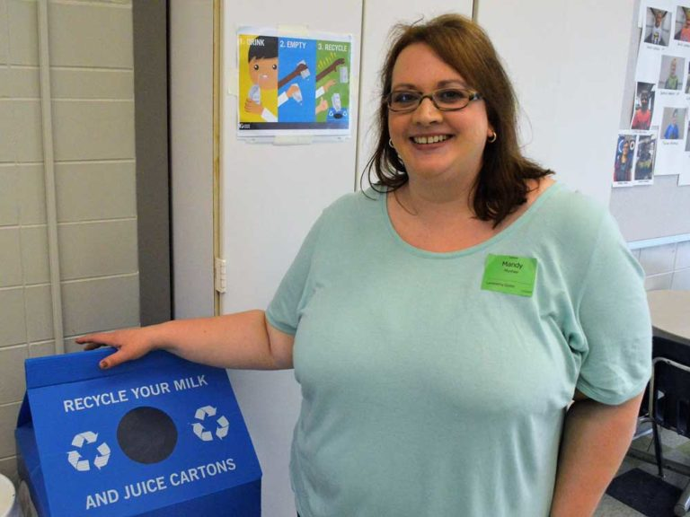 From recycling to running to laminating, this mom pretty much does it all