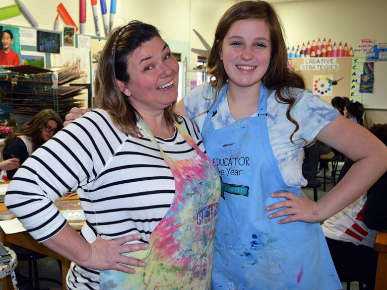 Teaching art 'is what I'm meant to do'