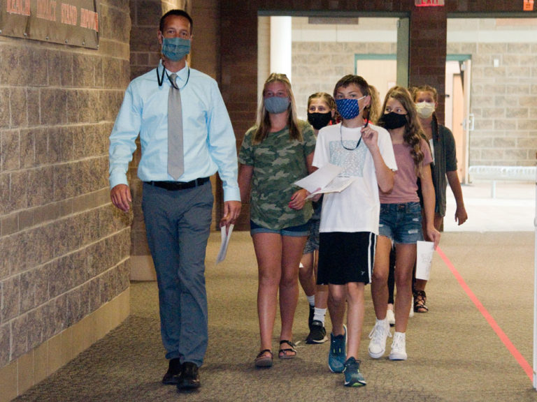Students return to classrooms for first time since March