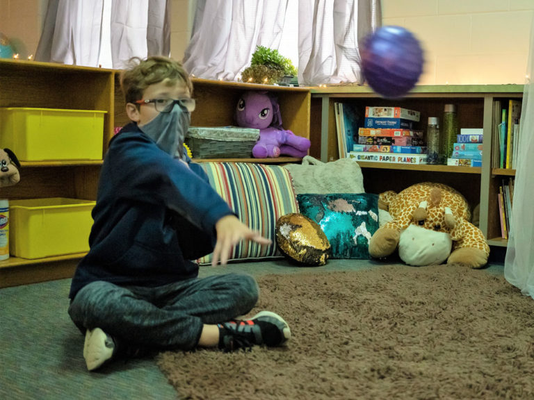 Students find a quiet place to chill out: the hygge room