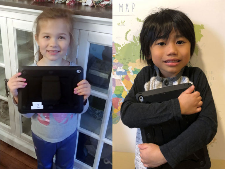 Curious kindergartners create podcast to learn about community members, tech
