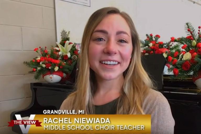 Choir teacher featured on national TV after SNN profile