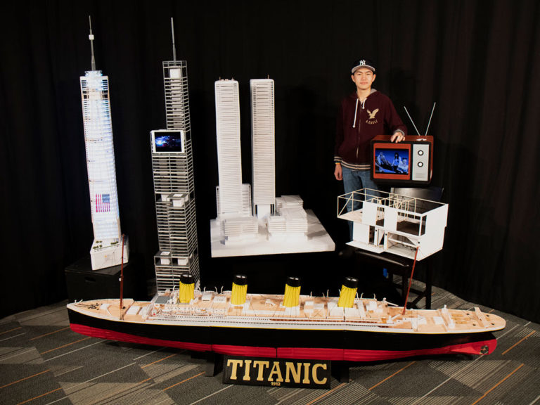 The sky's the limit (or is it?) for this accomplished model builder