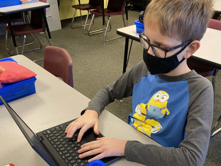 Fifth-grade author on the 'write' track