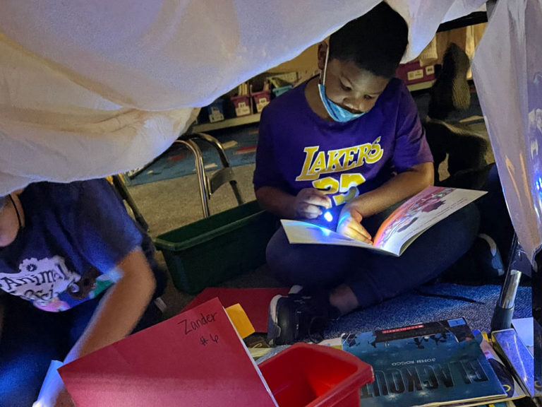 Partnerships, at-home literacy focuses of reading month