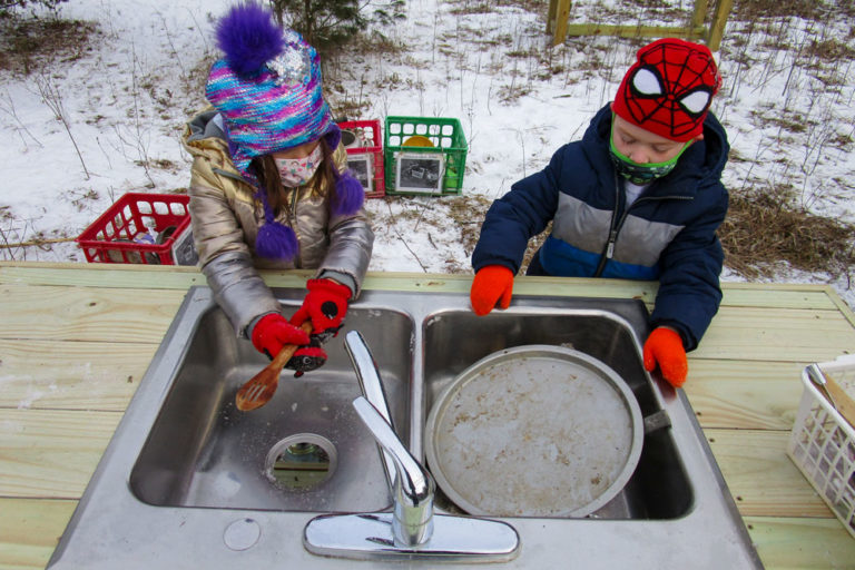 Rain, snow or shine, you'll find them learning outdoors